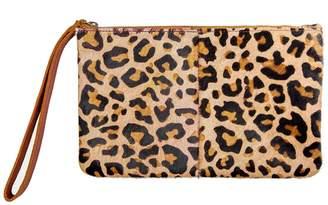 MAHI Leather - Classic Clutch Bag In Leopard Print Pony Fur