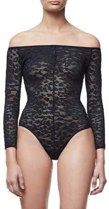Good American Good Body Shoulder Action Bodysuit