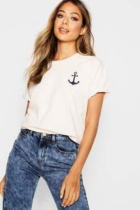 boohoo Anchor Print T-Shirt