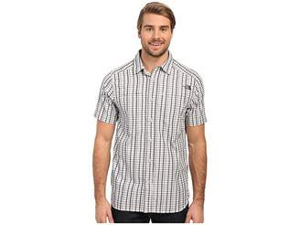 The North Face Short Sleeve Traverse Plaid Shirt (TNF Black/Mid Grey Plaid