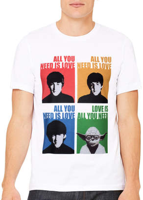 Star Wars Jolly Yoda All You Need Is Love T Shirt