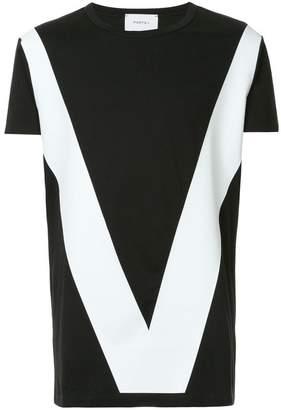 Ports V colour-block T-shirt