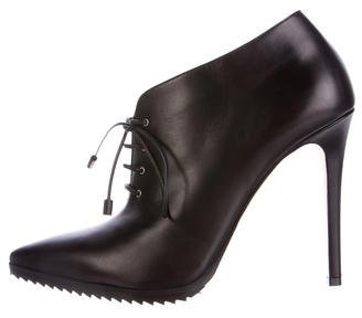 Kenneth Cole Leather Pointed-Toe Booties $80 thestylecure.com