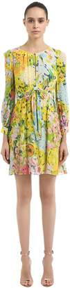 Moschino Floral Printed Crepe Dress