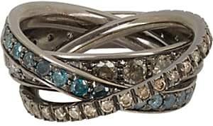 Roberto Marroni Women's Multi Diamond & Oxidized White Gold Triple Ring
