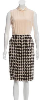 Chanel Wool Houndstooth Dress