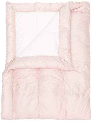Moncler logo patch sleeping bag