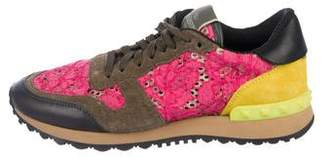 Valentino Lace Low-Top Sneakers