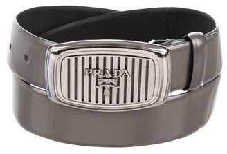 Prada Logo Leather Belt