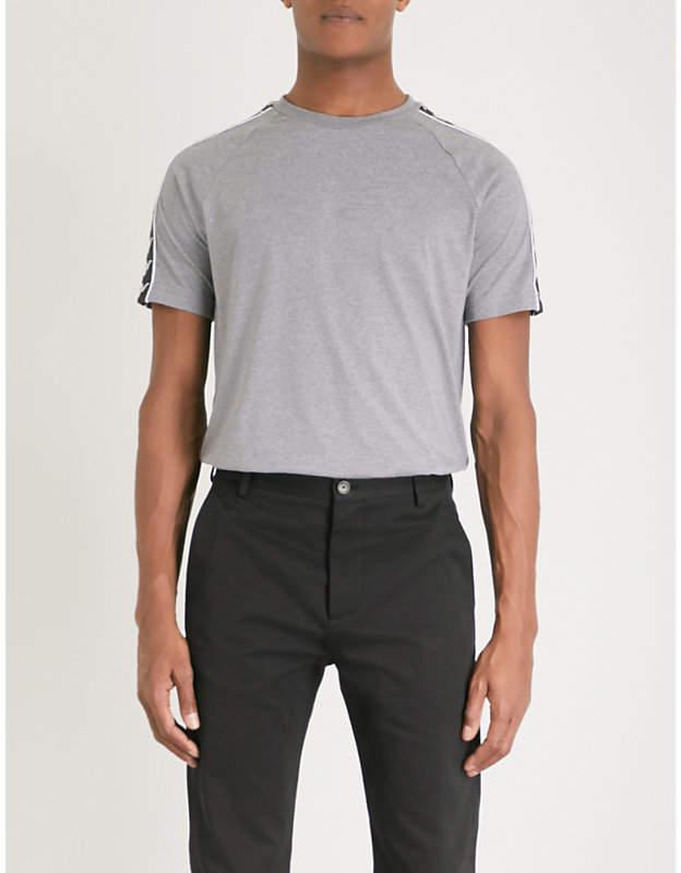 KAPPA KONTROLL Logo-print cotton-blend T-shirt