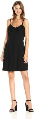 Kensie Women's Luxury Crepe Dress with Spaghetti Straps