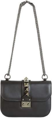 Valentino Small Leather Rockstud Lock Bag