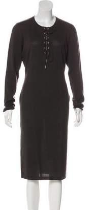 Salvatore Ferragamo Wool Midi Dress w/ Tags