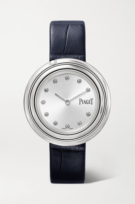 Piaget Possession 34mm Stainless Steel, Alligator And Diamond Watch - Silver