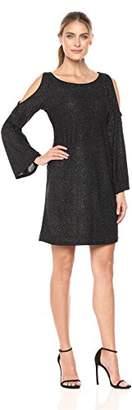 Tiana B Women's Glitter a-Line Dress with Split Sleeve