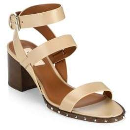 Valentino Leather Ankle Wrap Sandals
