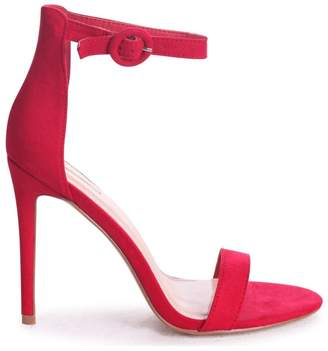 Barely There Linzi Nena Red Suede Heels