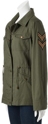 Juniors' Madden Girl Twill Military Jacket $80 thestylecure.com
