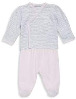 Kissy Kissy Baby's Two-Piece Winter Mix Kimono and Pants Set