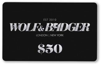 Wolf & Badger Gift Card $50