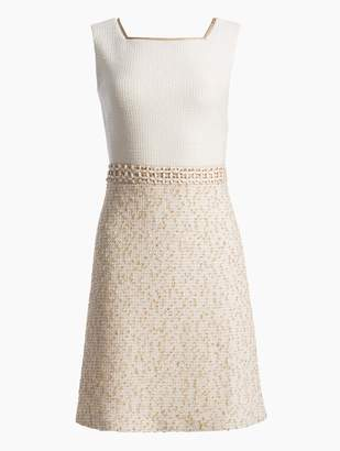 St. John Threaded Pique Knit Dress