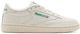 Off-White Reebok Classics and Green Club C 85 Vintage Sneakers 5ed9e77dc