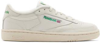 Reebok (リーボック) - Reebok Classics オフホワイト and グリーン Club C 85 ビンテージ スニーカー