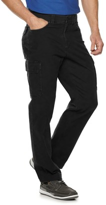 Croft & Barrow Men's Straight-Fit Canvas Cargo Work Pants