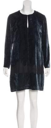Derek Lam Velvet Long Sleeve Dress