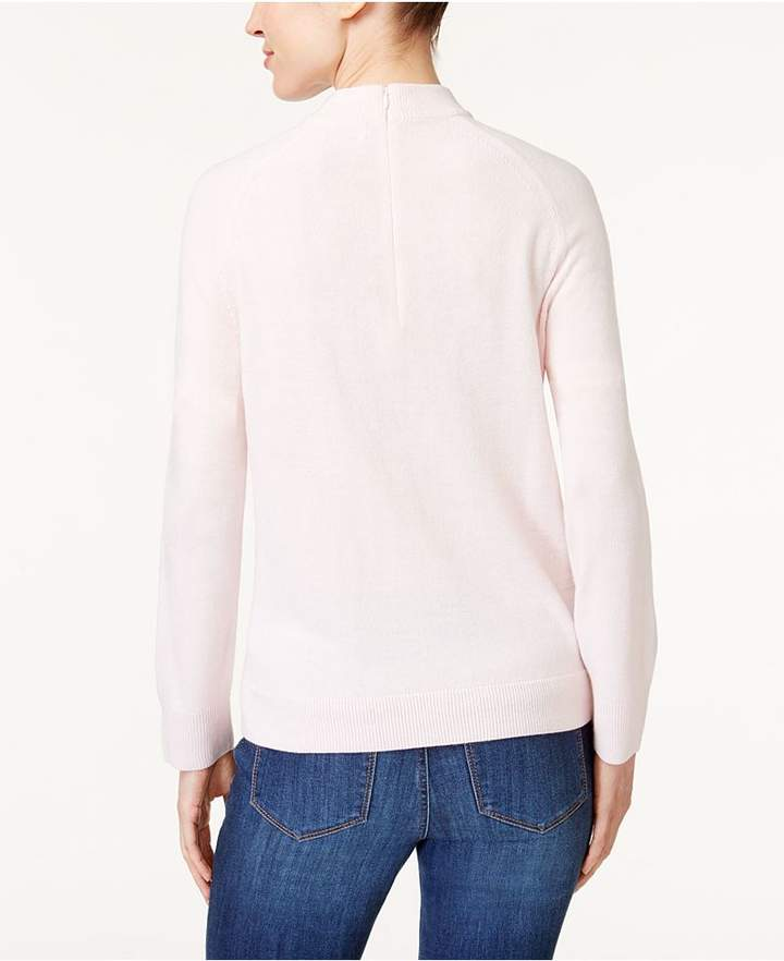 Karen Scott Luxsoft Mock-Neck Sweater, Created for Macy's