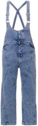 See by Chloe cropped denim dungarees
