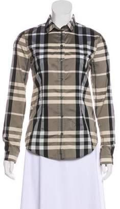 Burberry Check Long Sleeve Shirt black Check Long Sleeve Shirt