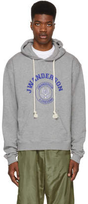 J.W.Anderson Grey University Logo Hoodie