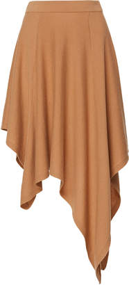 Michael Kors Pleated Asymmetric Cashmere Skirt Size: S