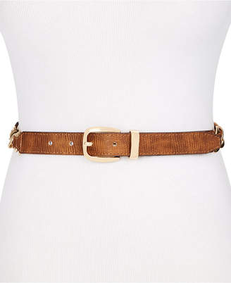 Steve Madden Chain Link Lizard Embossed Belt