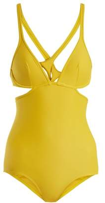771694d625c88 Ephemera - Cross Back Swimsuit - Womens - Yellow