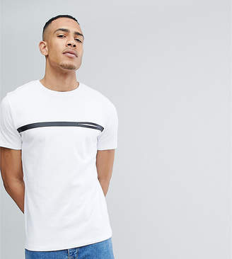Selected TALL T-Shirt With Stripe And Pocket Detail