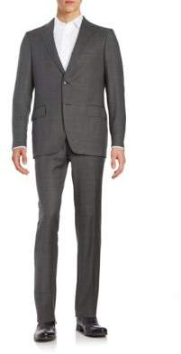 Black & Brown Black Brown Henry Fit Two-Piece Wool Suit
