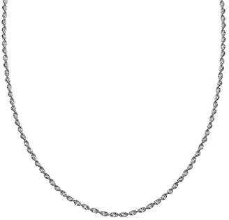 STERLING SILVER CHAINS Silver Reflections Sterling Silver Butterfly Twist 24 Chain Necklace