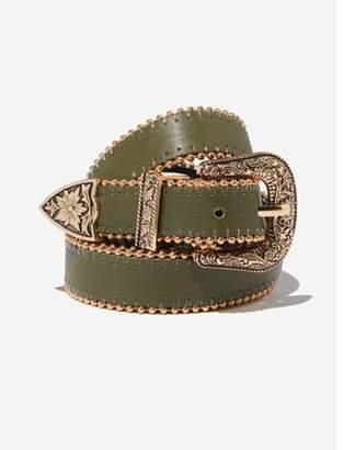 Rubi Western Skinny Studded Belt