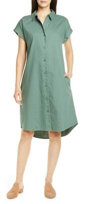 Eileen Fisher High/Low Organic Cotton Shirtdress