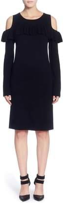 Catherine Malandrino Brigid Cold Shoulder Ruffle Dress