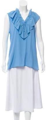 Marni Ruffled Sleeveless Blouse w/ Tags blue Ruffled Sleeveless Blouse w/ Tags