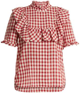 DAY Birger et Mikkelsen LEE MATHEWS Germaine ruffle-trimmed cotton-gingham top