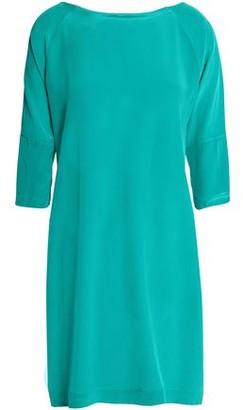Vix Paula Hermanny Button-detailed Silk Crep De Chine Mini Dress