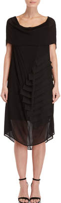 Pierantonio Gaspari Draped Shoulder Strap Detail Dress