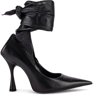 Balenciaga Dance Knife Wrap Around Pumps in Black | FWRD