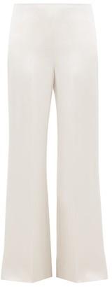 Joseph Devyn Silk Satin Trousers - Womens - Silver