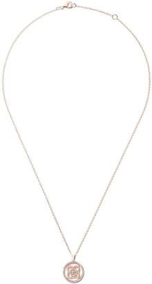 De Beers 18kt rose gold Enchanted Lotus Openwork Medal diamond necklace