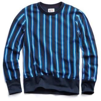 Todd Snyder + Champion Stripe Sweatshirt in Navy